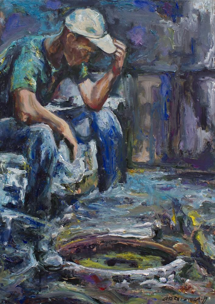La promesa verde - Cerezo Montilla - compar cuadros modernos, comprar cuadros, cuadros modernos