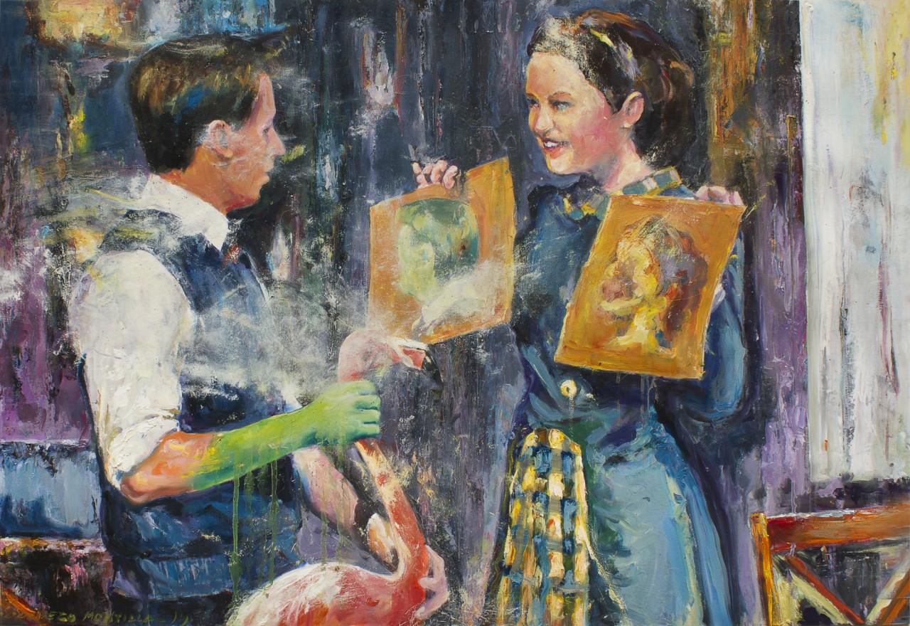 El incidente - Cerezo Montilla - compar cuadros modernos, comprar cuadros, cuadros modernos