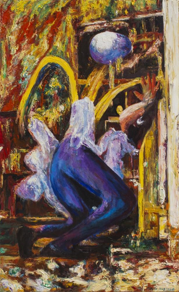 Reflexión en el gran vidrio - Cerezo Montilla - compar cuadros modernos, comprar cuadros, cuadros modernos