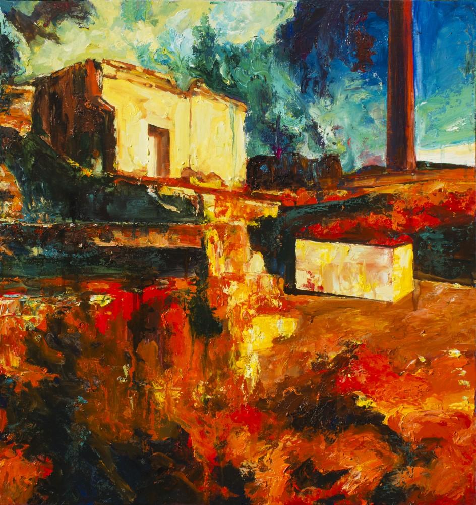 La casa del Fénix - Cerezo Montilla - compar cuadros modernos, comprar cuadros, cuadros modernos